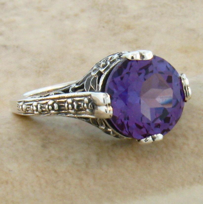 Vintage Alexandrite Rings 4 Ct COLOR CHAN...