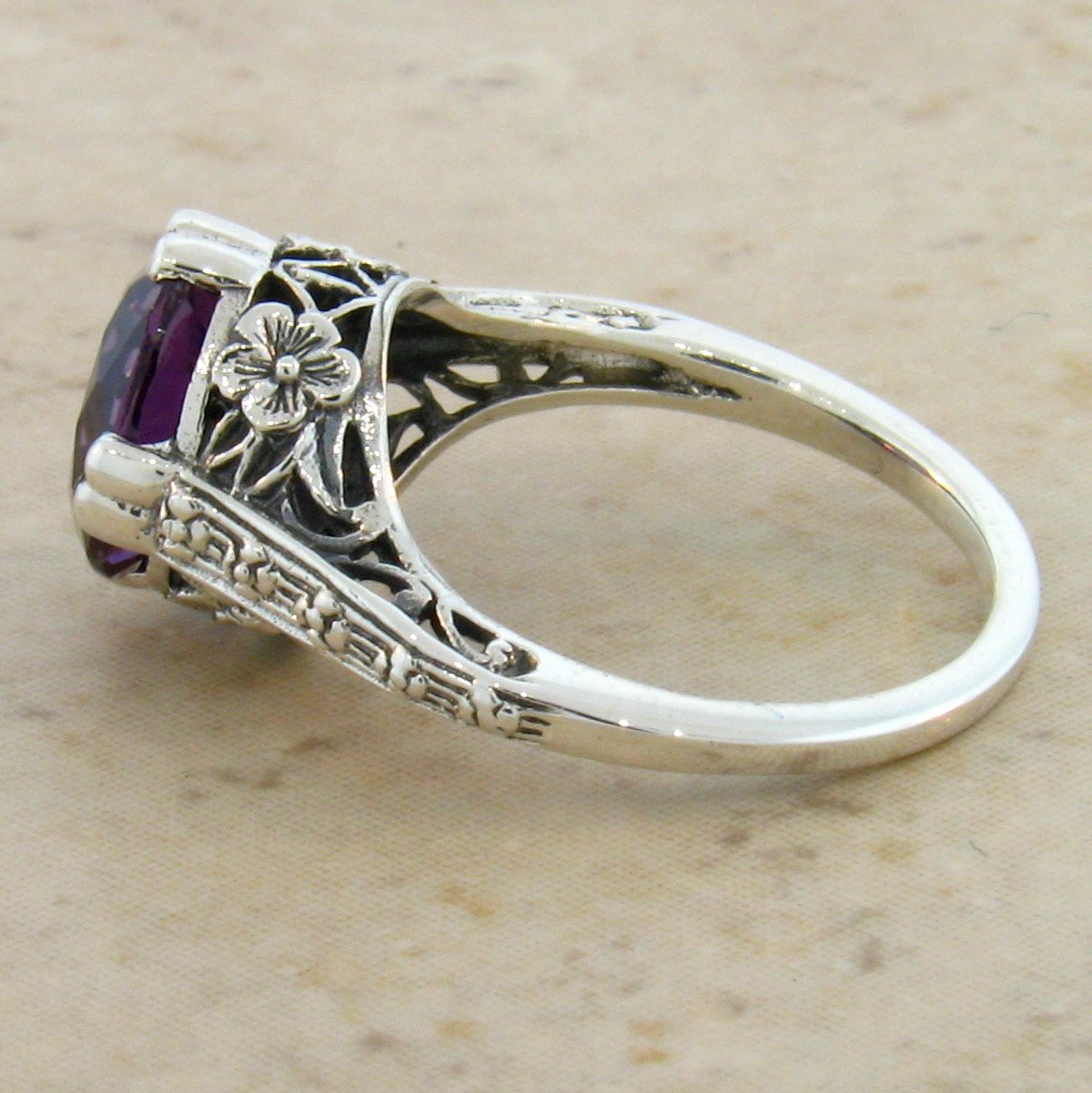 Color Changing Alexandrite Ring
