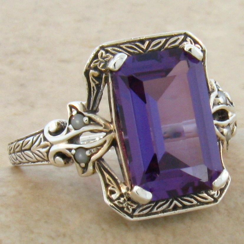Vintage Alexandrite Rings 5 CT COLOR CHAN...