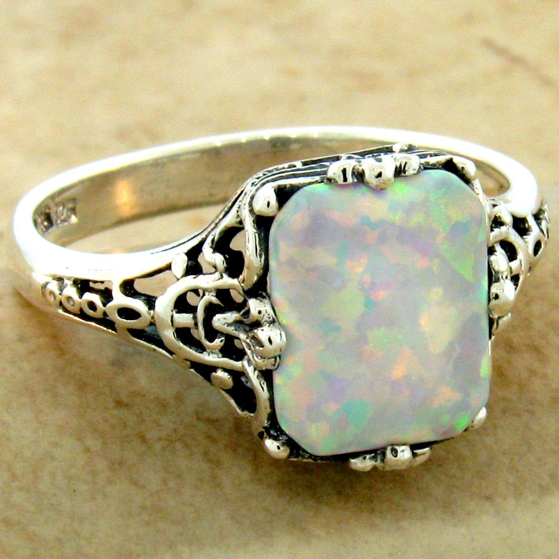 7.25 8.25 7.75 Natural 1ct Aquamarine 925 Solid Sterling Silver Ring Size 7 8